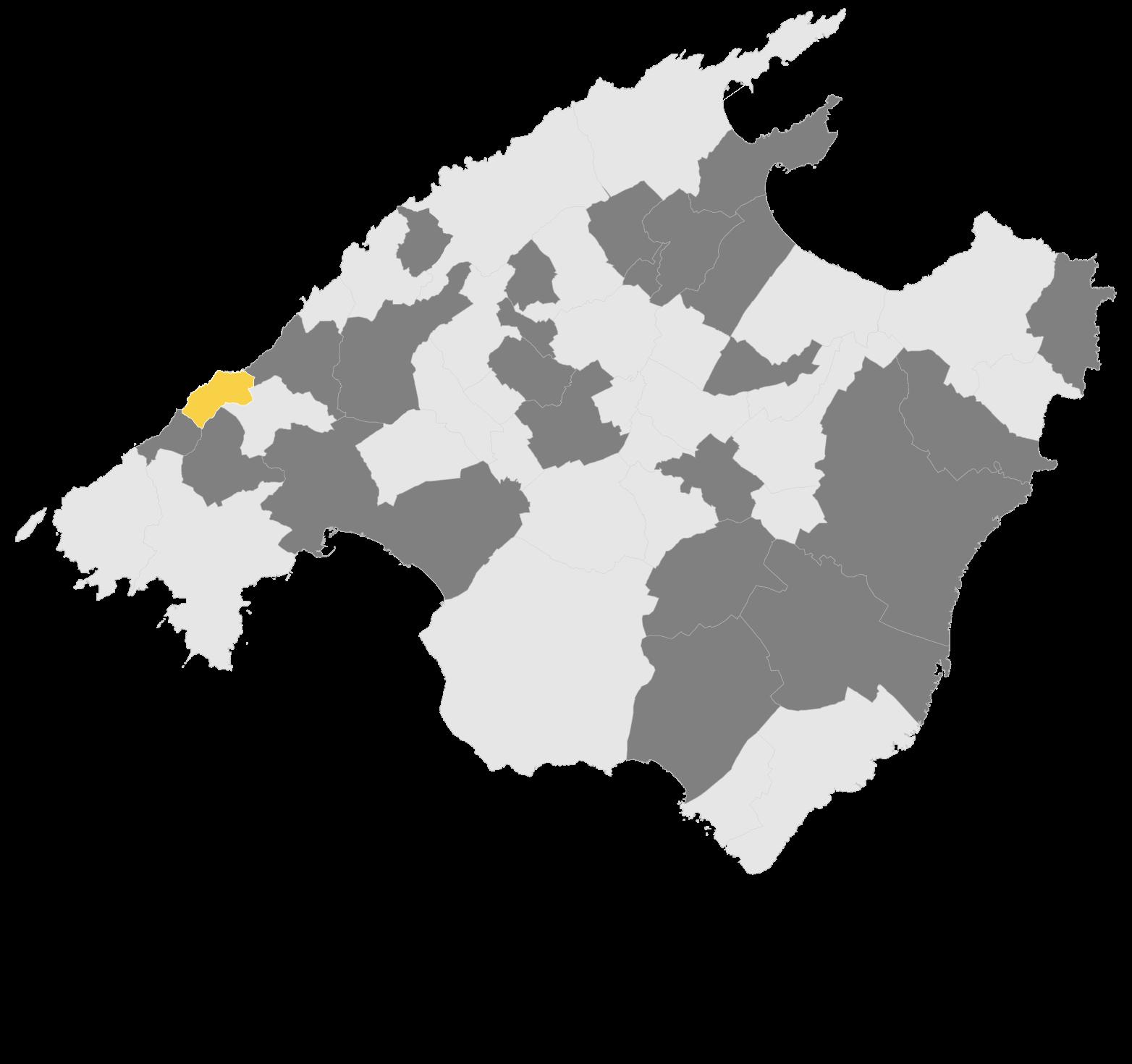 Mapa Banyalbufar